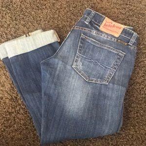 Lucky Brand boyfriend crops or jeans